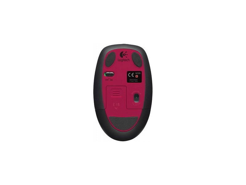 Мышь Logitech Wireless Mouse M345 Red (910-002591)