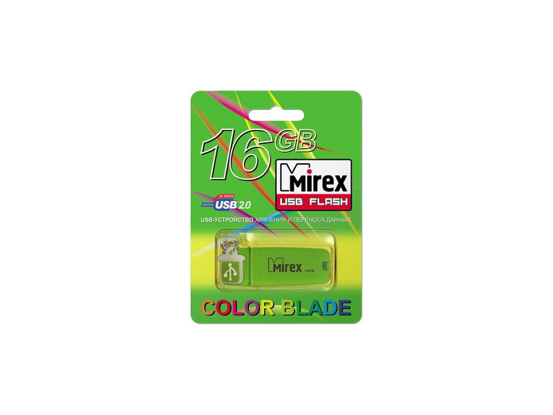 USB Flash Mirex Chromatic 16GB Green (13600-FMUCHG16)