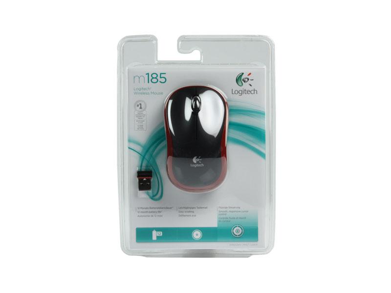 Мышь Logitech Wireless Mouse M185 Red