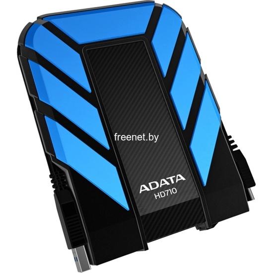 Внешние жесткие диски Внешний жесткий диск ADATA DashDrive Durable HD710 500GB Blue (AHD710-500GU3-CBL) купить в Минске по цене: 59.48 р.