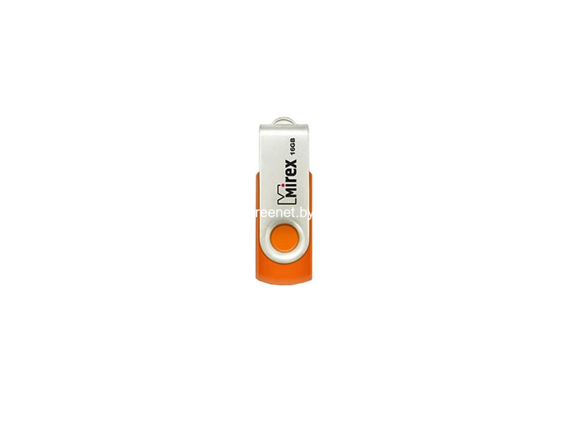 USB Flash Mirex SWIVEL RUBBER ORANGE 16GB (13600-FMURSO16)