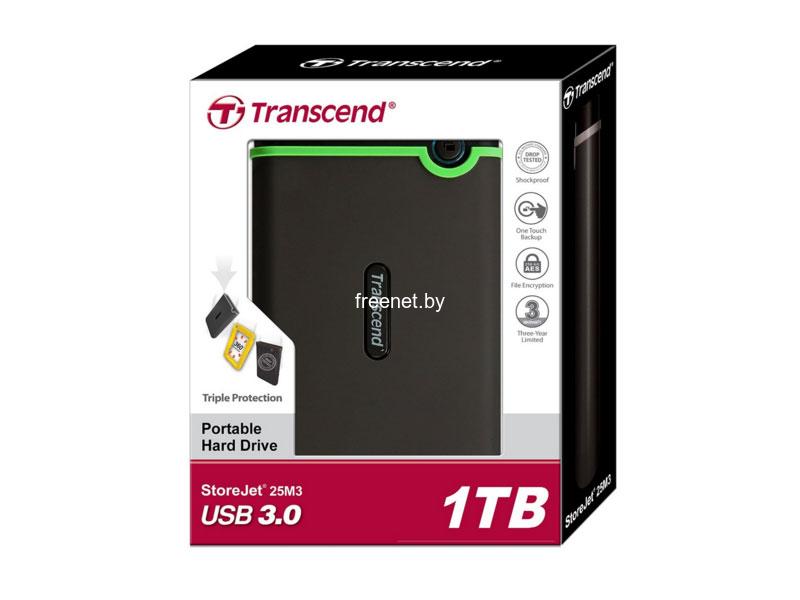 Внешний жесткий диск Transcend StoreJet 25M3 1TB (TS1TSJ25M3)