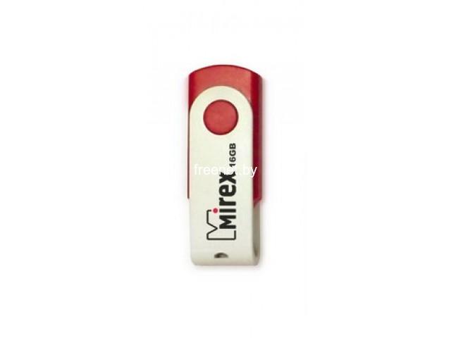 USB Flash Mirex SWIVEL RED 16GB (13600-FMUSWL16)