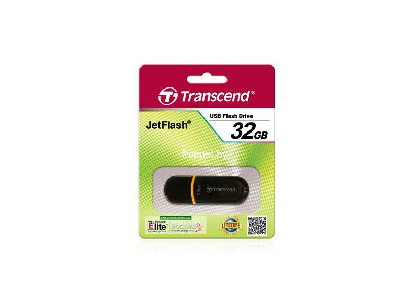 Фото Transcend JetFlash 300 32GB Black (TS32GJF300) купить в интернет магазине — FREENET.BY