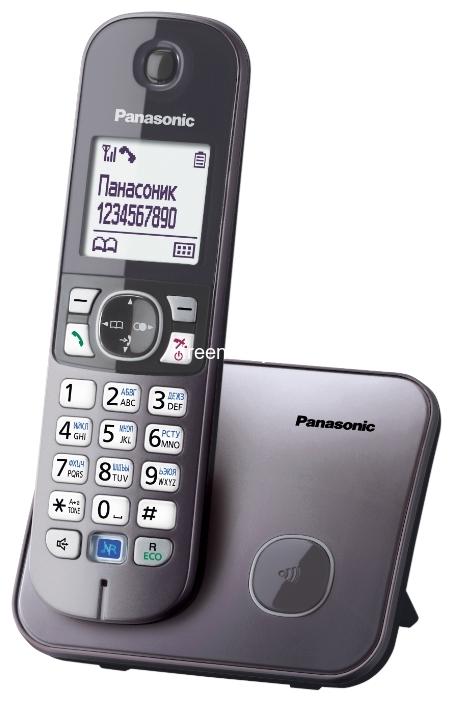Радиотелефоны DECT Panasonic KX-TG6811RUM купить в Минске по цене: 82.76 р.