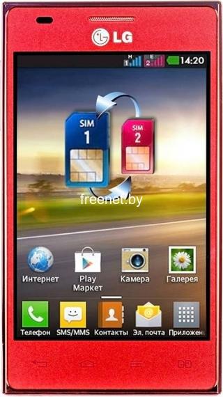LG Optimus L5 Dual E615 Red купить в Минске с доставкой — FREENET.BY