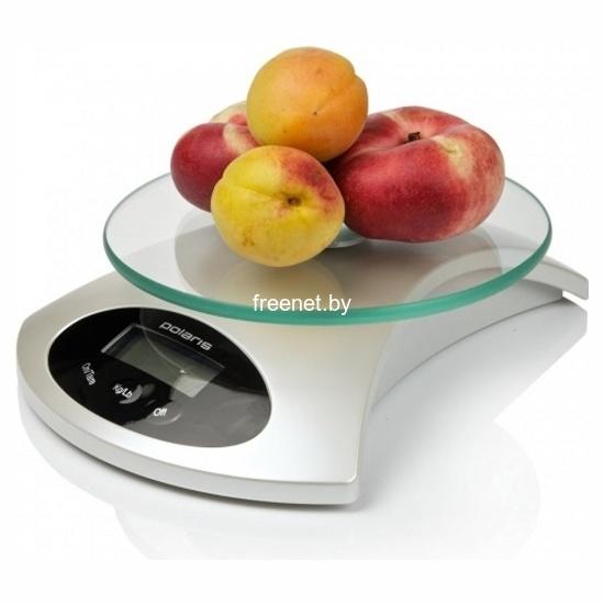 Фото Весы кухонные Polaris PKS 0512DG White купить в интернет магазине — FREENET.BY