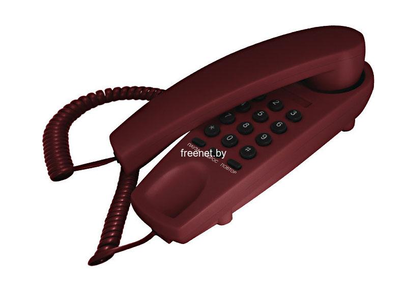 Проводной телефон TeXet TX-225 Burgundy купить в Минске с доставкой — FREENET.BY