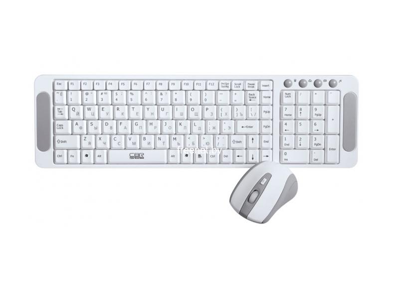 Фото Комплект клавиатура + мышь CBR SET 708 White купить в интернет магазине — FREENET.BY
