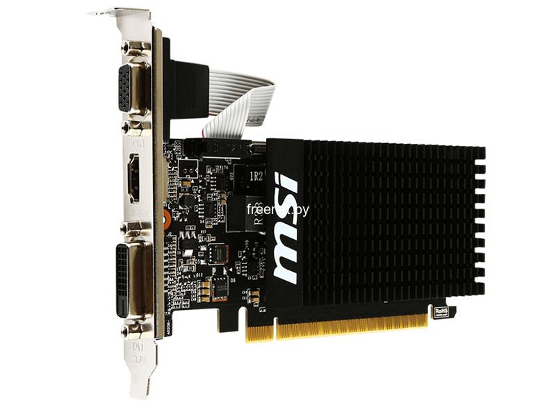 Видеокарты MSI GeForce GT710 1GB DDR3 (GT 710 1GD3H LP) купить в Минске по цене: 78.45 р.