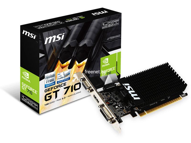 MSI GeForce GT710 1GB DDR3 (GT 710 1GD3H LP) купить с доставкой — FREENET.BY