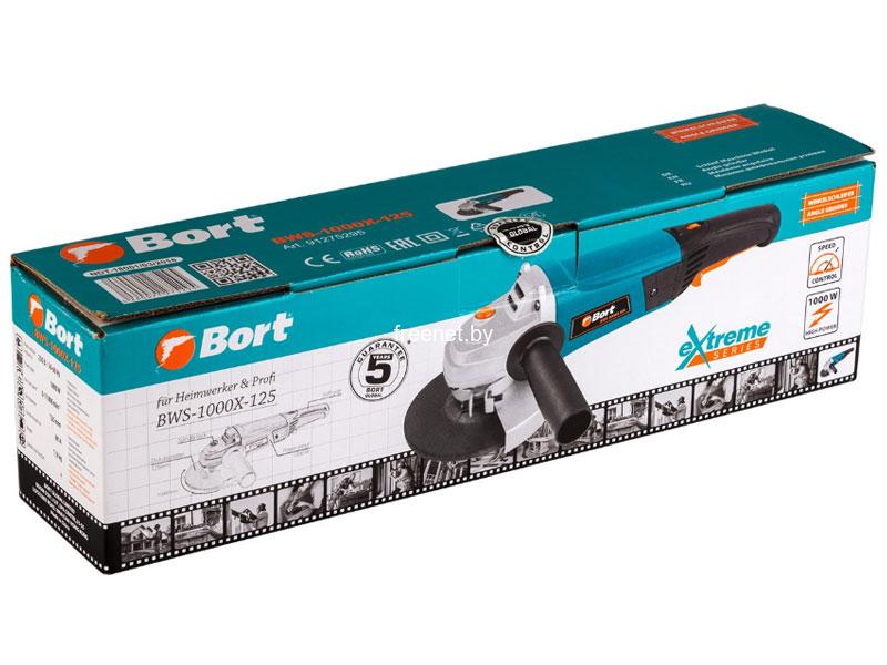 Болгарки (угловые шлифмашины) Bort BWS-1000X-125 купить в Минске по цене: 76.22 р.